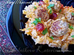 Пряный рис с мясными шариками