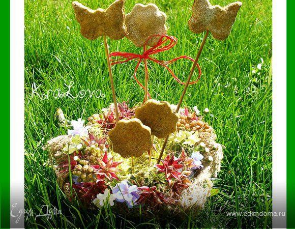 Чесночно-укропное печенье из цельнозерновой муки