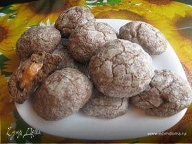 Печенье с ириской