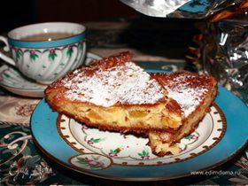 """Творожно-персиковый пирог """"Неженка"""""""