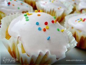 Кексы с красной смородиной на йогурте