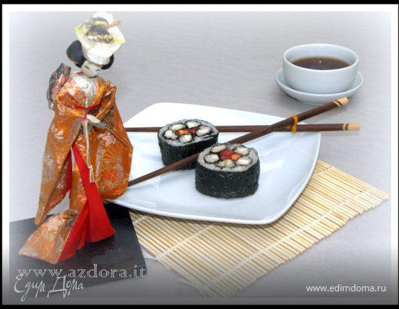 Фальшивые суши-роллы с курицей