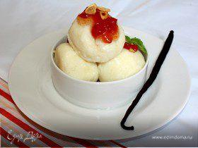 Рисовые кнедлики с томатным джемом