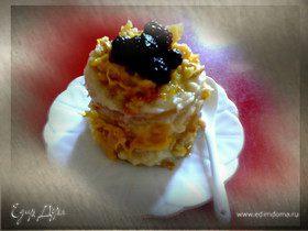 Мини-тортики с апельсиновым соусом