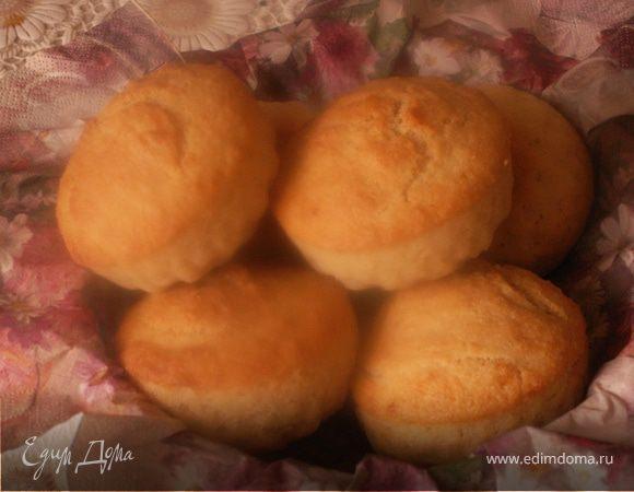 """Манные мини-кексы """"Золотые шары"""""""