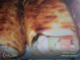 Лаваш из курицы с чесночным соусом