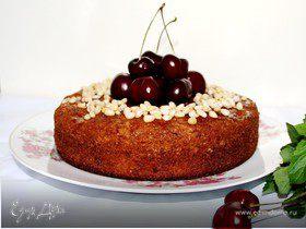 Черешневый пирог с кедровыми орехами
