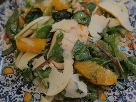 Салат с куриной грудкой, фенхелем и сельдереем