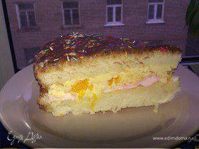 Зефирно-апельсиновый торт