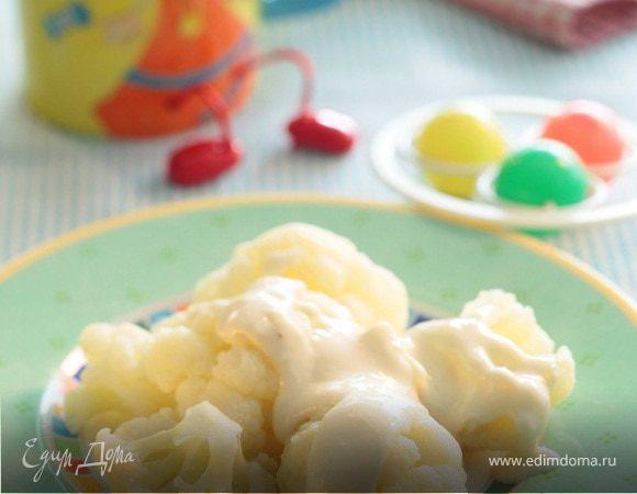 Цветная капуста с сырным соусом