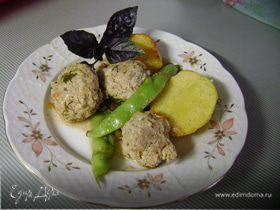 Мясные шарики с фасолью и картофелем