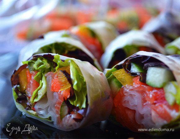 Роллы с лососем (Spring-rolls)
