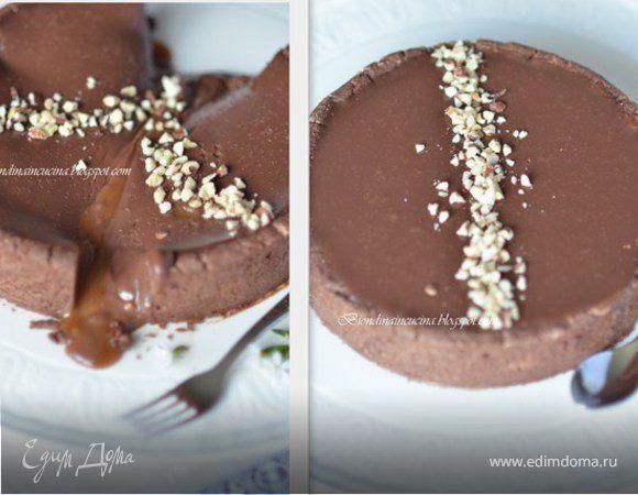 Дважды шоколадный тарт с карамелью
