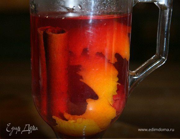 Вишневый чай с медом, апельсиновой цедрой и пряностями
