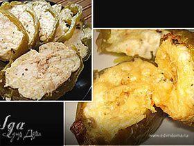 Перец, фаршированный сыром и яйцами