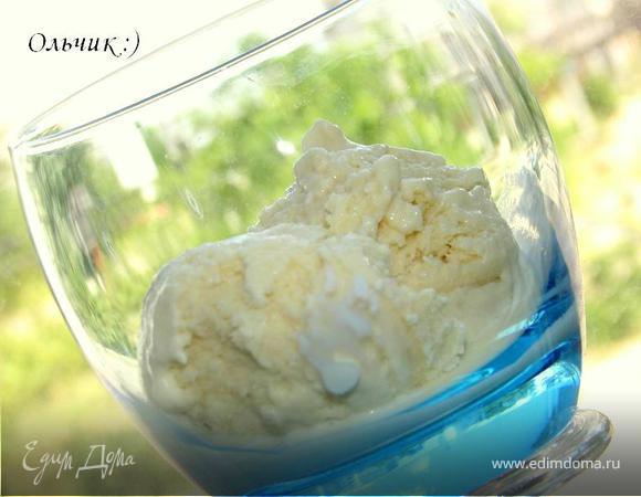 Грушевое мороженое с апельсиновым флером