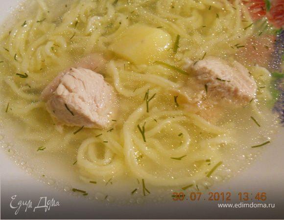 чесночный куриный суп