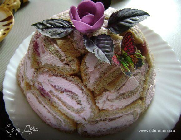 """Тортик """"Вишнево-кокосовый купол"""""""