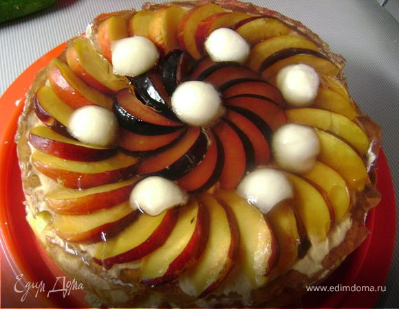 Творожно-фруктовый пирог