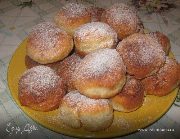 Жареные пончики с курагой