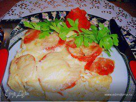 Овощная запеканка под сырным соусом