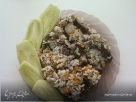 Баклажаны с рисом и фаршем в пароварке