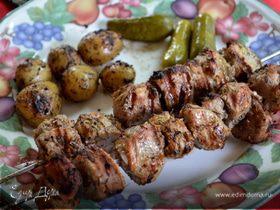 Свиной кебаб с тимьяном и апельсиновым маринадом