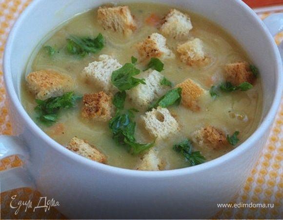 Суп-пюре с сухариками
