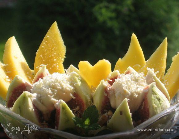Фруктовый десерт с сыром Маскарпоне