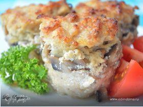 Мясные мини-кексы с грибной начинкой