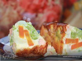 Итальянская фриттата (рыбный омлет с овощами)