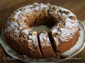 Кофейный пирог с грецкими орехами