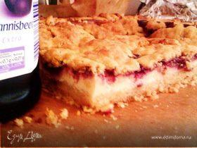 Смородиново-творожный пирог (Johannisbeere-Quarkkuchen)