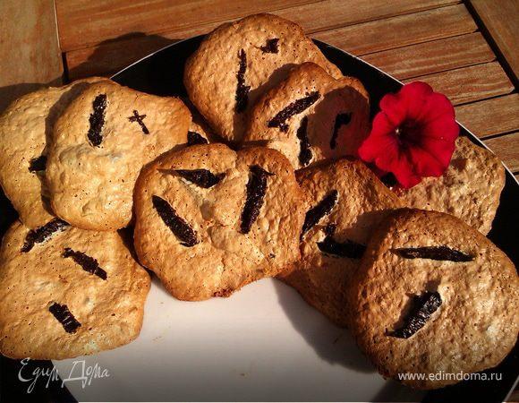 Тигровое мягкое печенье с черносливом