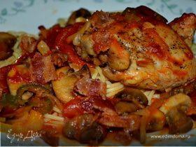 Куриное каччиторе на сковороде