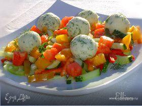 Салат овощной с шариками из феты