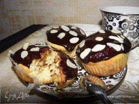 Творожные кексы с шоколадом и бананом