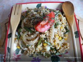 салат с булгуром и фасолькой