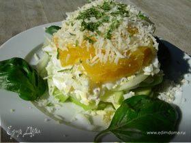 Салат с апельсинами и сыром