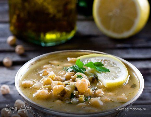 Суп с нутом и лимоном