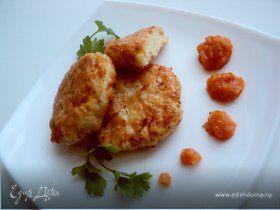 Необычные рыбные котлеты с фруктово-овощным конфитюром