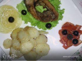 Стейк карпа с овощами