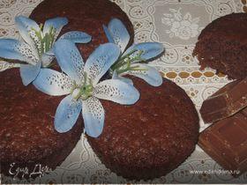 Шоколадные кексы с апельсиновыми цукатами