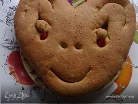 Хлеб - смешная рожица для малышей