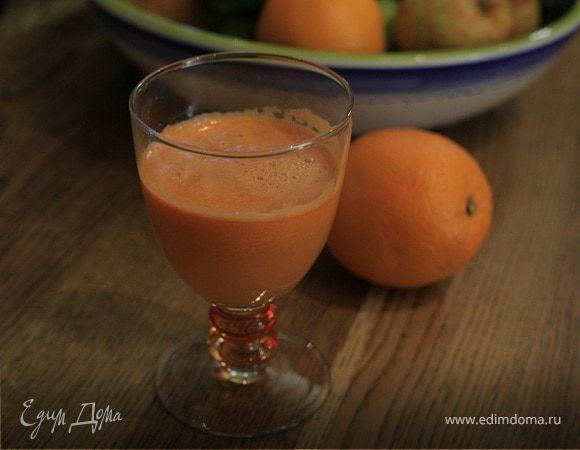 Морковный сок со сливами, апельсином и имбирем