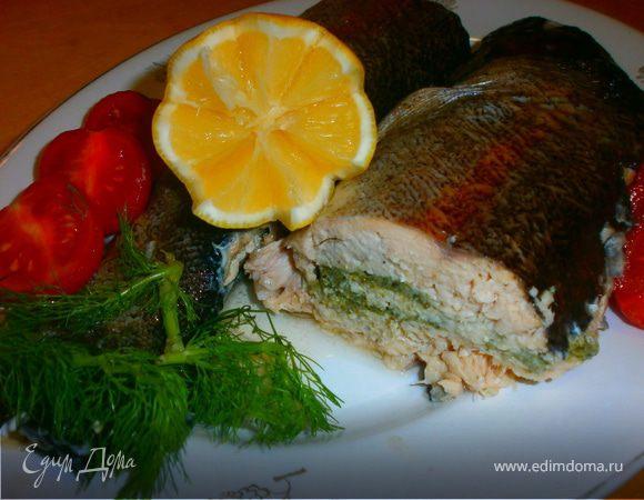 Угощаем черную водяную змею : Рыба, запеченная в духовке с тройной фаршировкой