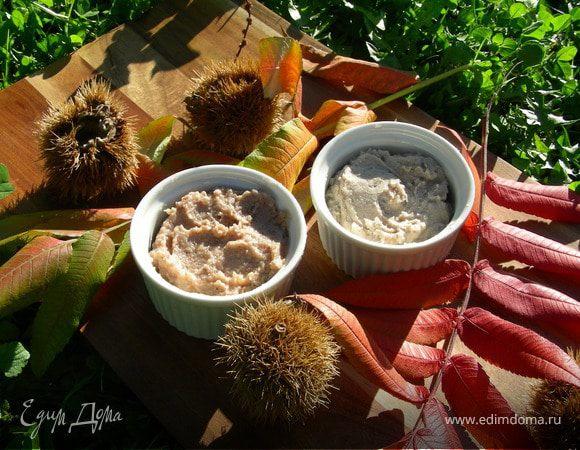 Пюре и крем из каштанов (основа для десертов и других блюд)