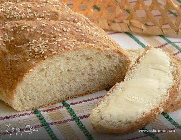 хлеб на домашнем йогурте с хлопьями