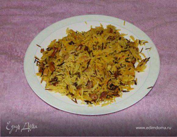 Шафрановый рис с изюмом и кедровыми орешками
