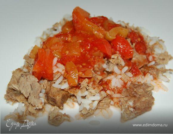 Лечо (заготовка на зиму) + Рис с мясом